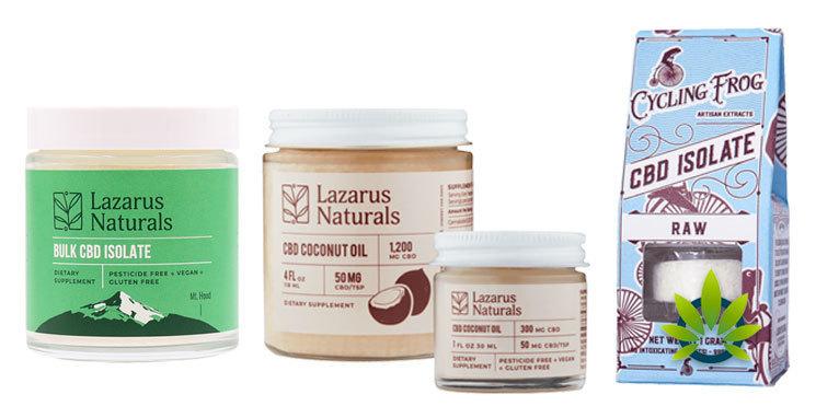 lazarus naturals cbd isolate and coconut oil