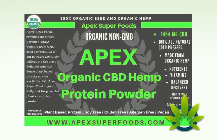APEX CBD Hemp Protein Powder: Organic Cannabidiol-Infused