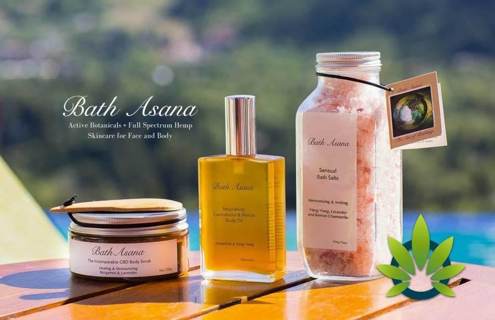 bath asana full spectrum hemp oil skincare