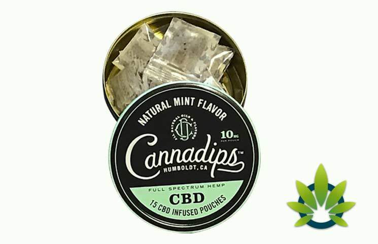 cannadips cbd infused pouches