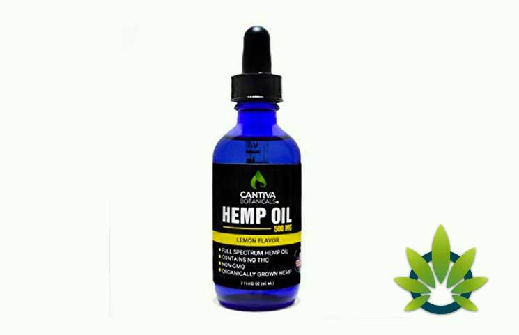 Cantiva Botanicals Full Spectrum Hemp Oil Tincture: THC-Free Seed Extract Drops