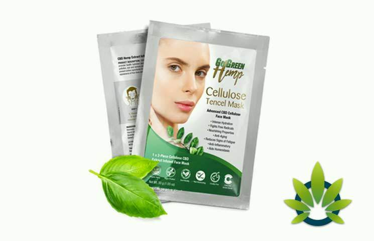GoGreen Hemp Cellulose Tencel CBD Face Mask
