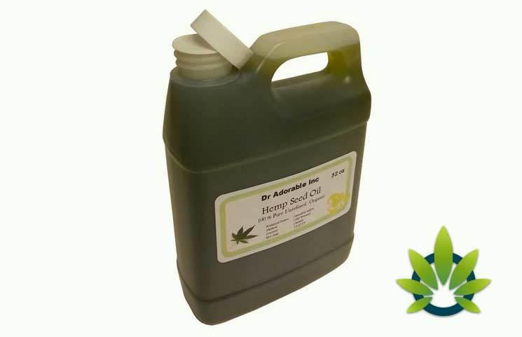dr. adorable hemp seed oil organic pure 32 oz