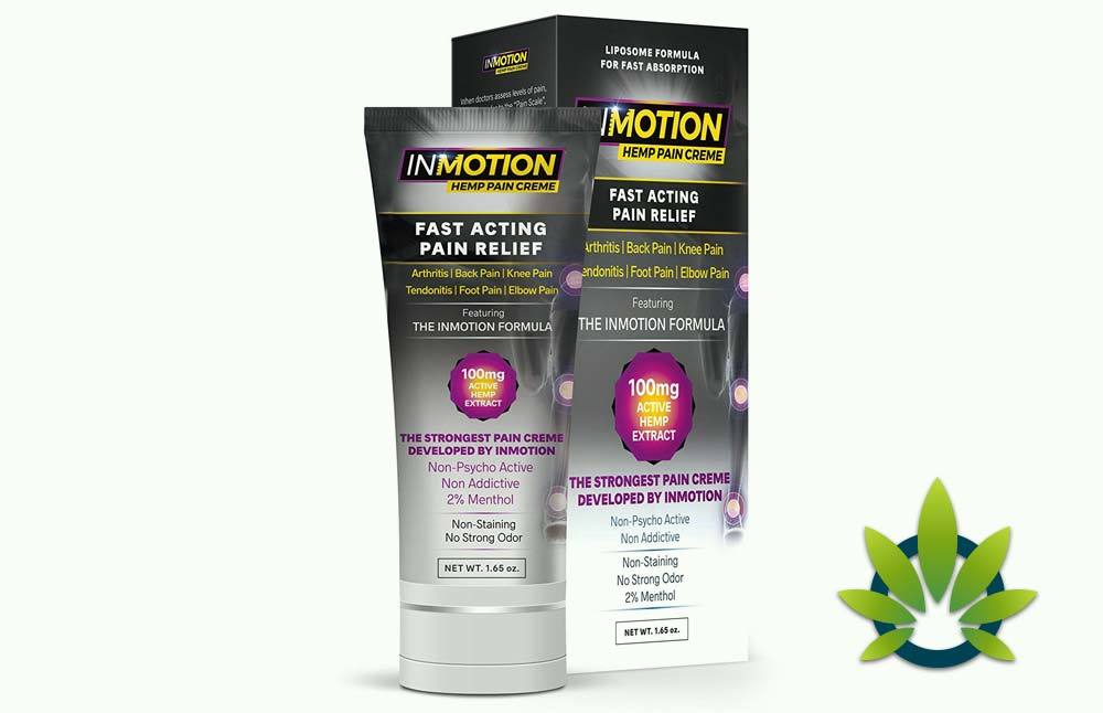 InMotion Hemp Pain Relief Cream: Fast Acting Topical Liposome 300mg Formula