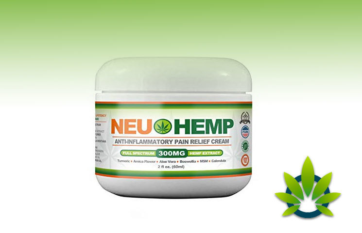 NeuHemp Anti-Inflammatory Pain Relief Cream With Full Spectrum Hemp Extract