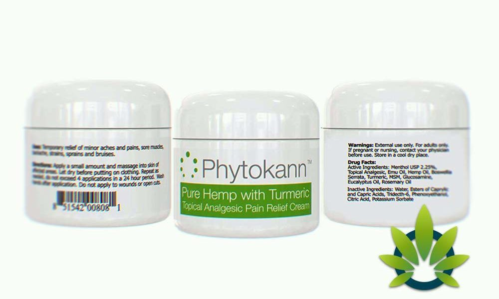 Phytokann Pure Hemp with Turmeric: Topical Analgesic Pain