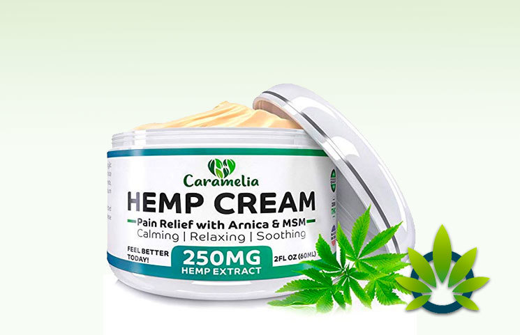 Caramelia Hemp Extract Cream: Arnica And MSM To Calm, Soothe