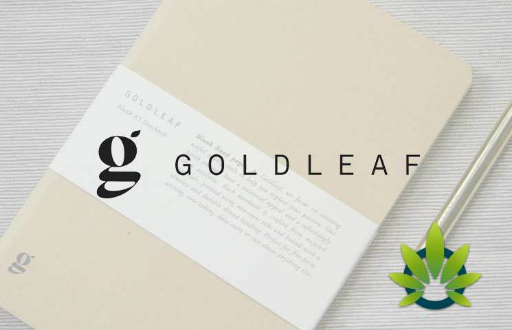 Goldleaf The CBD Jotter For Cannabis Extracts & Edibles Wellness Logbook Journal