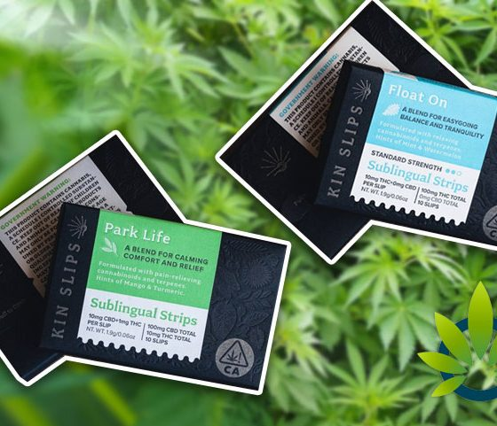 Kin Slips Cannabis-Infused Sublingual Strips Deliver Cannabinoids and Terpenes Under the Tongue