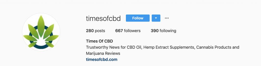 times of cbd instagram