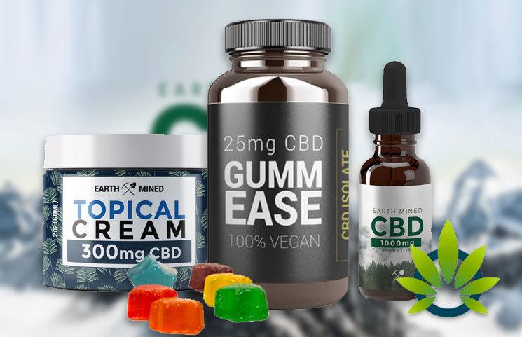 Earth Mined CBD: Full-Spectrum Cannabidiol Oil, Cream, Pills and Gummies