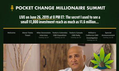Pocket Change Millionaire Summit: Teeka's Cannabis and CBD Event is June 26