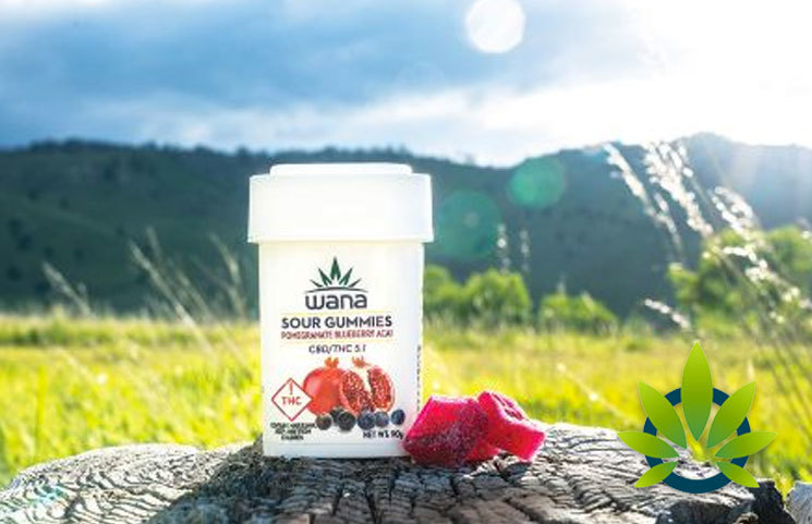 New Wana Brands CBD-Edibles are Here in Pomegranate Blueberry Acai Sour Gummies Form