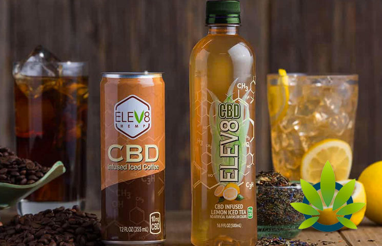 elev8 hemp cbd infused iced coffee