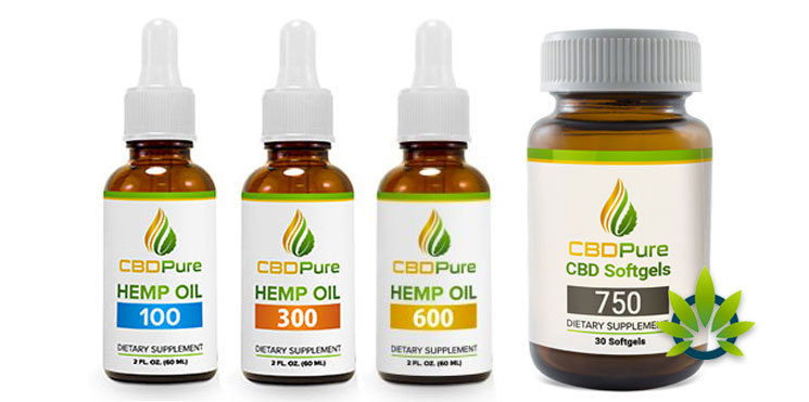 cbdpure hemp oil and capsules