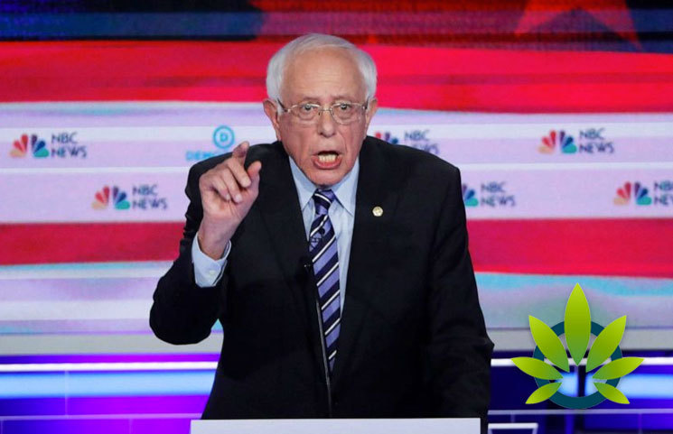 2020-Democratic-Candidate-Bernie-Sanders-US-Is-Not-Ready-for-Decriminalization-Excluding-Marijuana