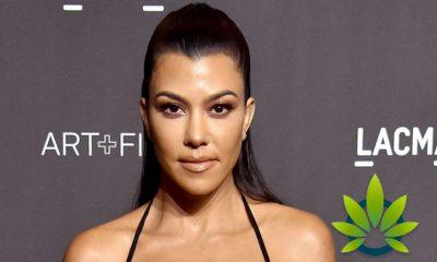 Kourtney Kardashian Attends New York's Hemp Garden for Launch of MASK CBD Beauty Mask