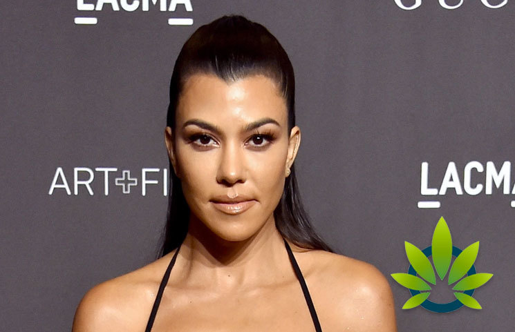 Kourtney Kardashian Attends New York's Hemp Garden for Launch of MASK CBD Beauty Mask