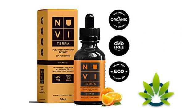 Nuvi Terra Organic Hemp Oil is Now Available on Amazon in Orange Flavor