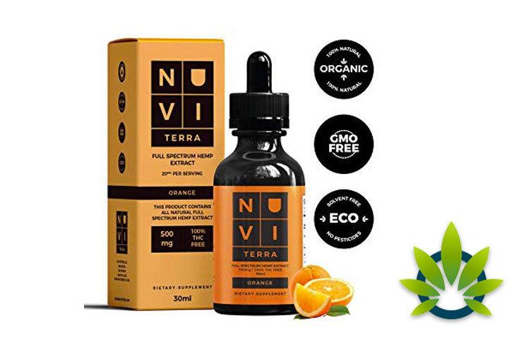 Nuvi Terra Organic Hemp Oil is Now Available on Amazon in Orange Flavor