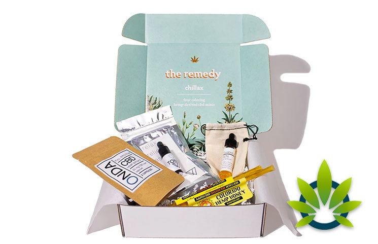 The Remedy Chillax Box: Hemp-Derived CBD Subscription Box Service