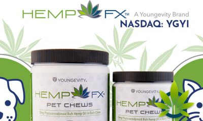 Youngevity (YGYI) HEMP FX Pet Chews Announced with Phytocannaobinoid-Rich Hemp Oil
