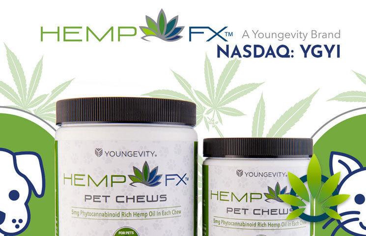 Youngevity (YGYI) HEMP FX Pet Chews Announced with Phytocannaobinoid-Rich Hemp Oil