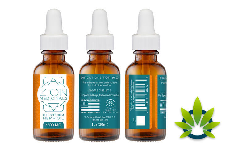 zion medicinals organic spagric full spectrum hemp oil