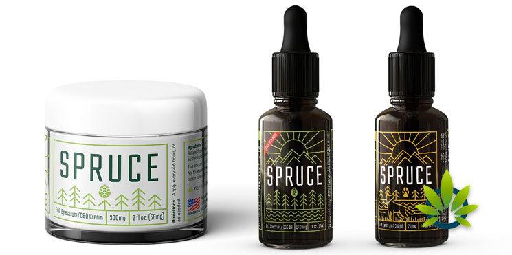 spruce cbd product line
