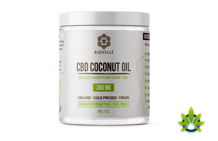 Biovelle CBD Coconut Oil: Pure Hemp CBD-Infused Product