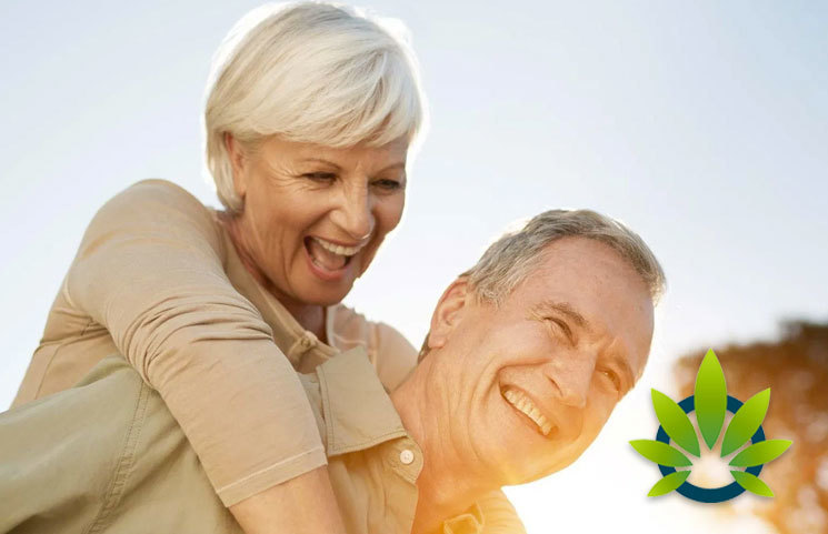 Elder Seniors Using Topical Cannabis Oil Pain Relief Creams