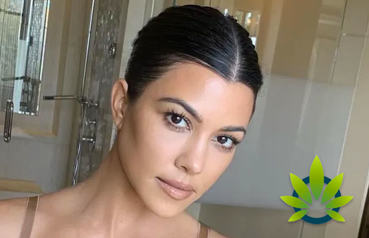 Kourtney Kardashian Goes to MASK CBD Beauty Mask Debut by Tarik Freitekh's Farms