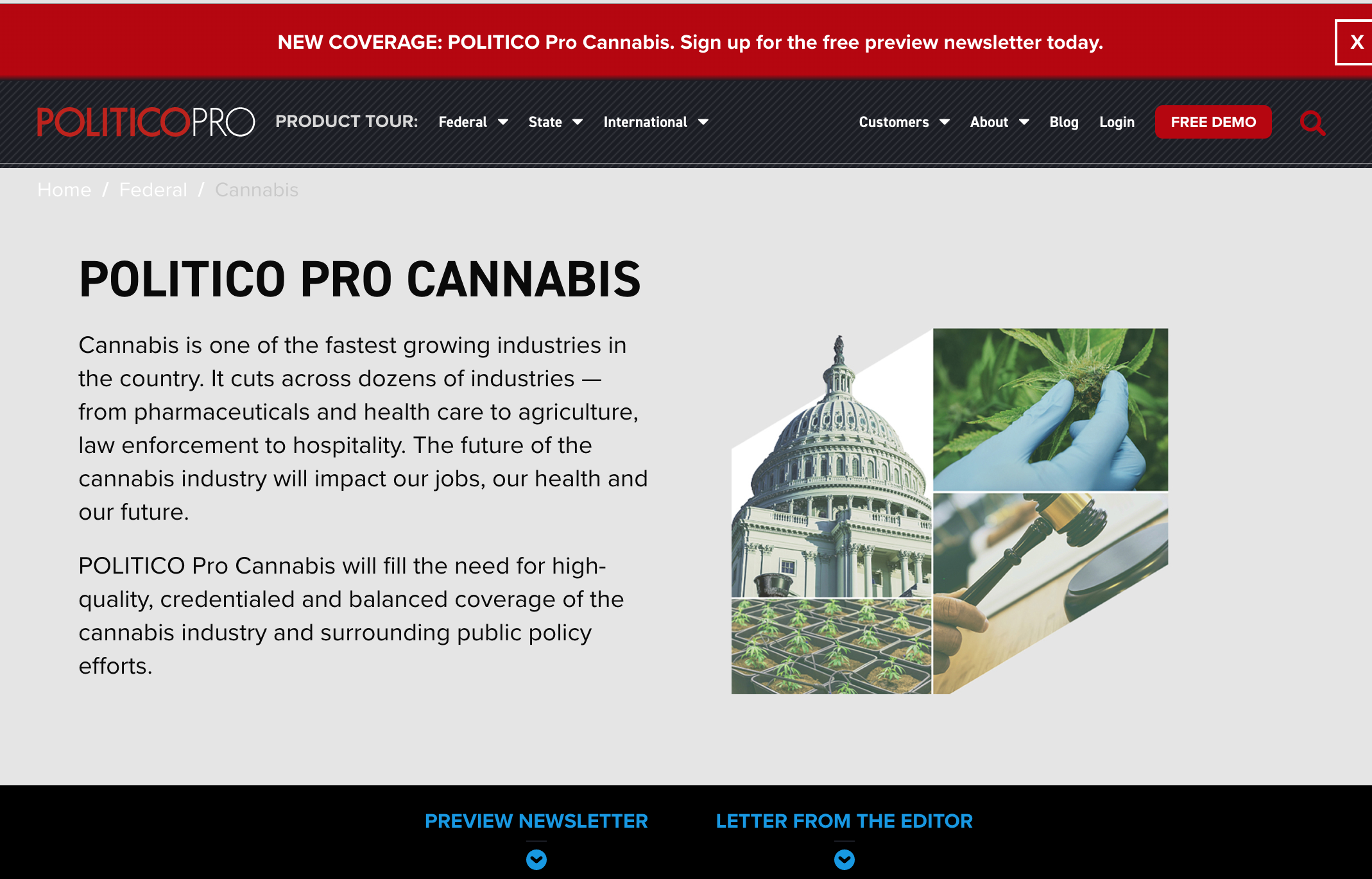New Politico Pro Newsletter Will Focus on Cannabis Regulation and Policy