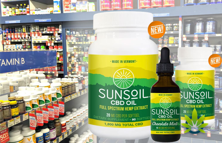 Sunsoil CBD Products Now at The Vitamin Shoppe, Fresh Thyme, Earthfare and Lucky's Markets