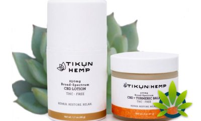 Tikun Hemp Debuts New Broad Spectrum CBD and CBD + Turmeric Balm Lotions