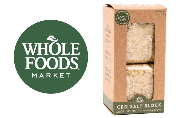 Whole Foods Topical CBD Products Expands to 13 New States, Including Pacha Soap Bath Items