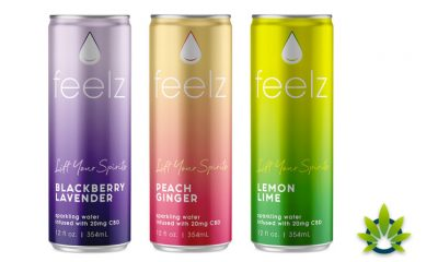 New Feelz CBD-Infused Sparkling Water Drink Seltzer to Debut in November