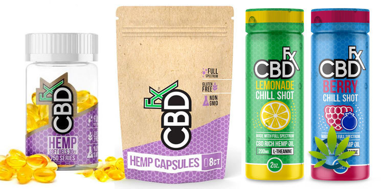 cbdfx capsules and chill shots
