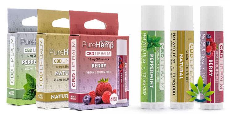 pure hemp botanicals topicals lip balms