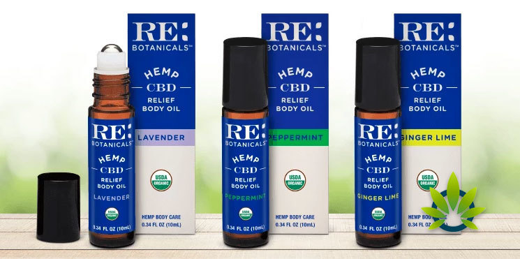 re botanicals relief body oil