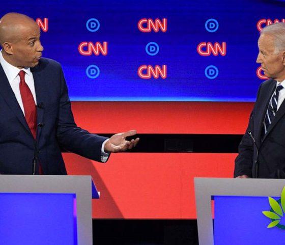 Cory Booker Critical of Joe Biden's Opposition of Marijuana Legalization During Debate