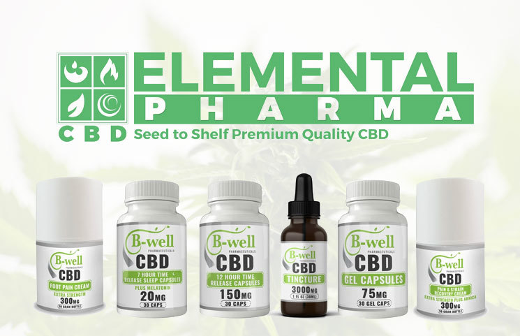 B-Well Pharmaceuticals: Full CBD Product Line by Elemental Pharma Launches