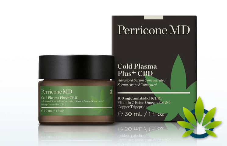 New Perricone MD Cold Plasma Plus+ CBD Advanced Serum Skin Product Launches