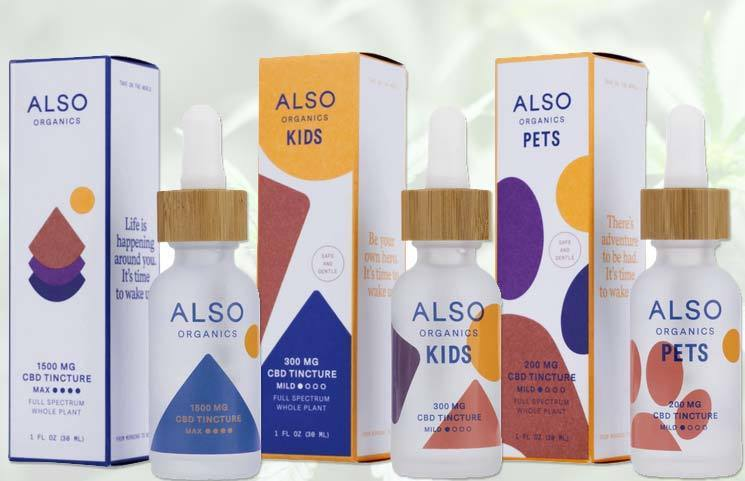 New Also Organics CBD Products Bring Unique Formulas to Market for Adults, Children and Pets