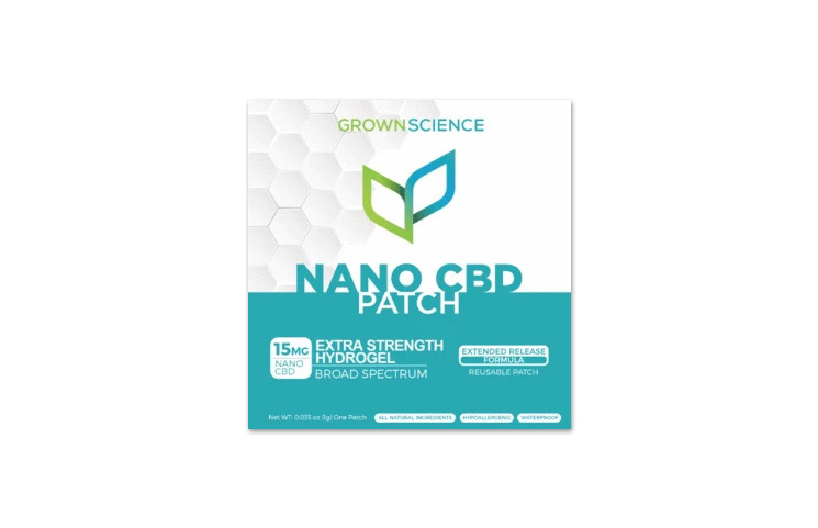 Grown Science Nano CBD Patch: Broad Spectrum Extra Strength Hydrogel