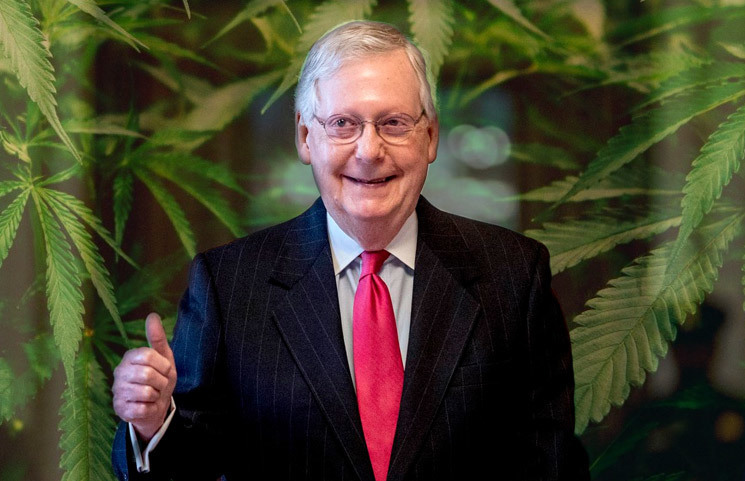 GOP Lawmakers, Mitch McConnell Laugh at the Marijuana COVID-19 Banking Provisions Proposal