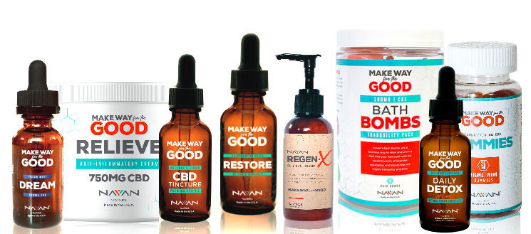 Navan Global CBD Tincture, Relieve Cream and Renew Lotion Products Launch