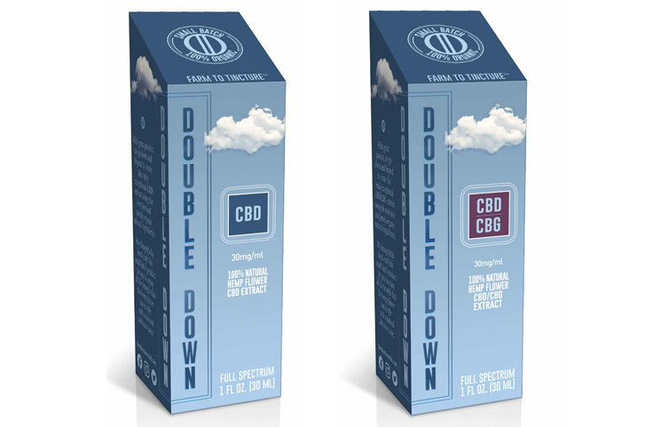 New Double Down CBD Organic Hemp CBD and CBG Oils Debut with Proprietary Technology