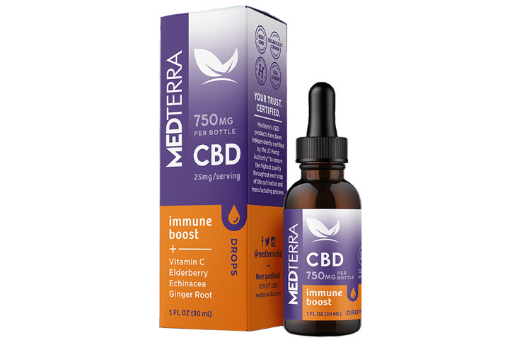 New Medterra CBD Immune Boost Drops with Vitamin C and Herbal Nutrients Launch