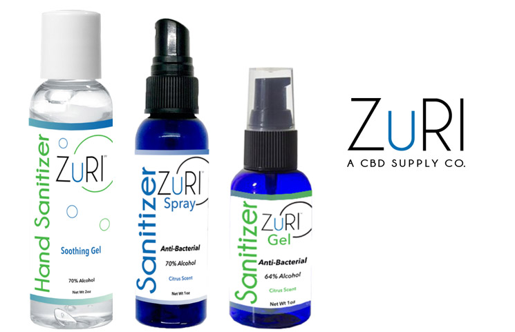 New ZuRI CBD Hand Sanitizers for Defense Against the COVID-19 Pandemic